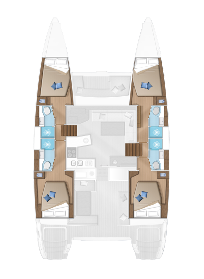 croquis catamaran 450 S
