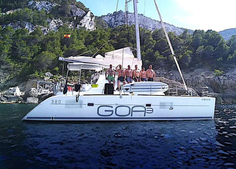 catamaran Lagoon 380 in Ibiza