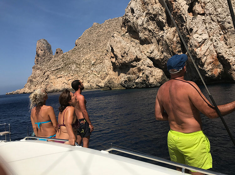Sailing ibiza on catamaran with Goa Catamaran SL