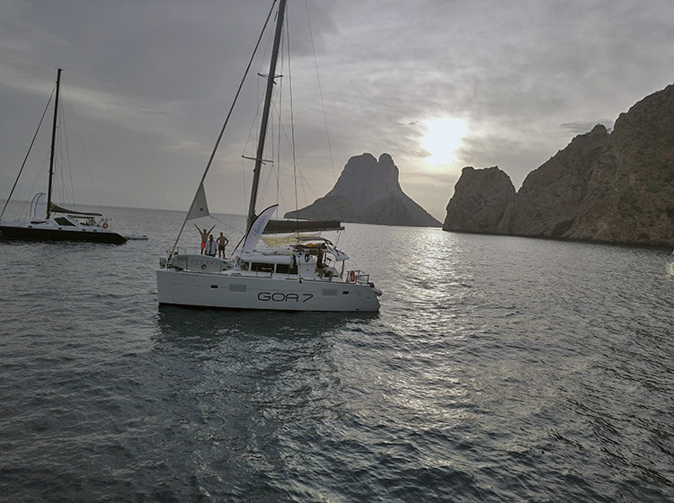 Es Vedra island, Balearic Islands, Spain by catamaran