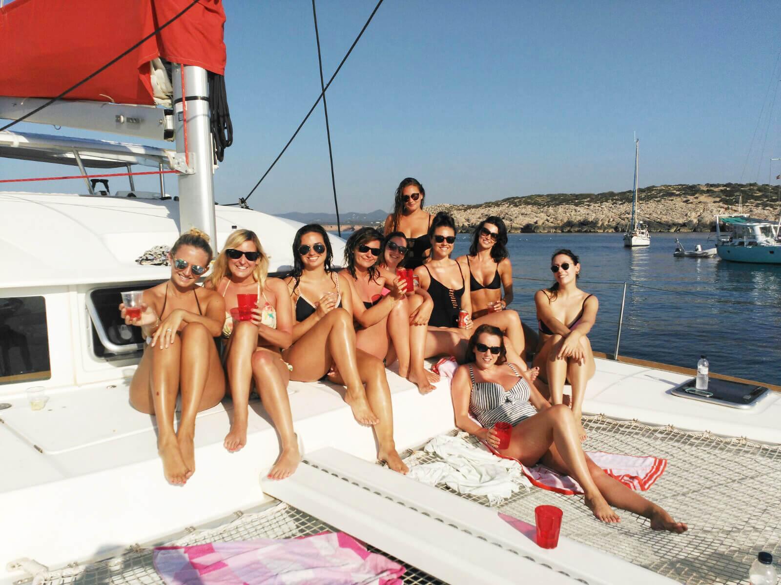 Pasar el dia en formentera en catamaran