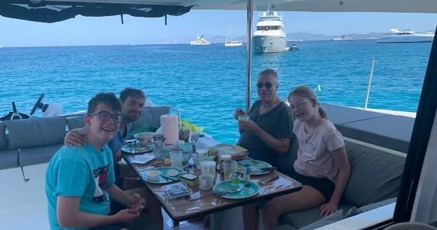Catamaran with the family Ibiza July 2020