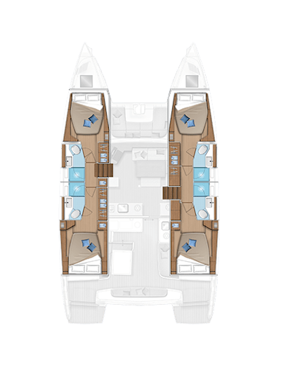 Week charter ibiza lagoon 46 croquis inside